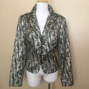Carmen Marc Valvo Metallic Brocade Jacket Blazer